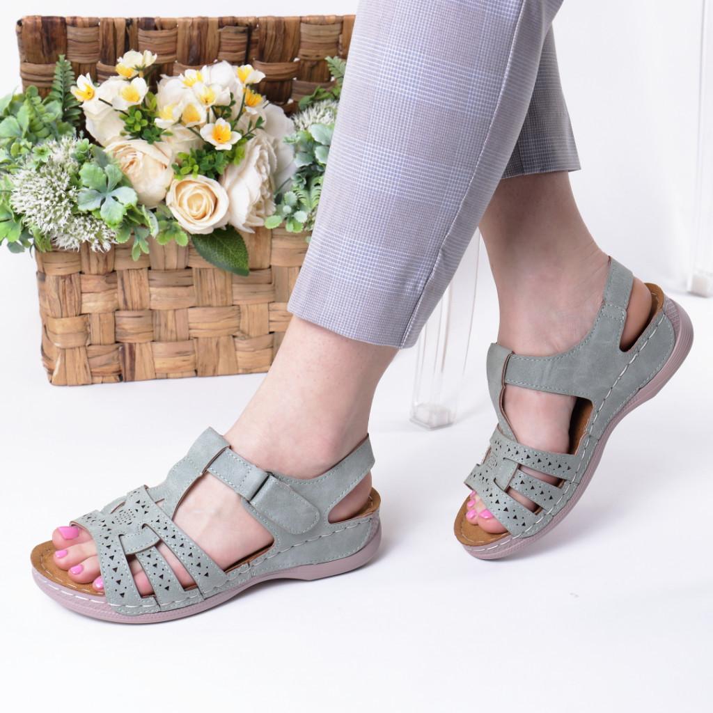 Sandale verzi piele ecologica Ziva