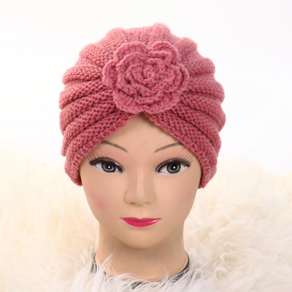 Turban cu floare roz Ursa