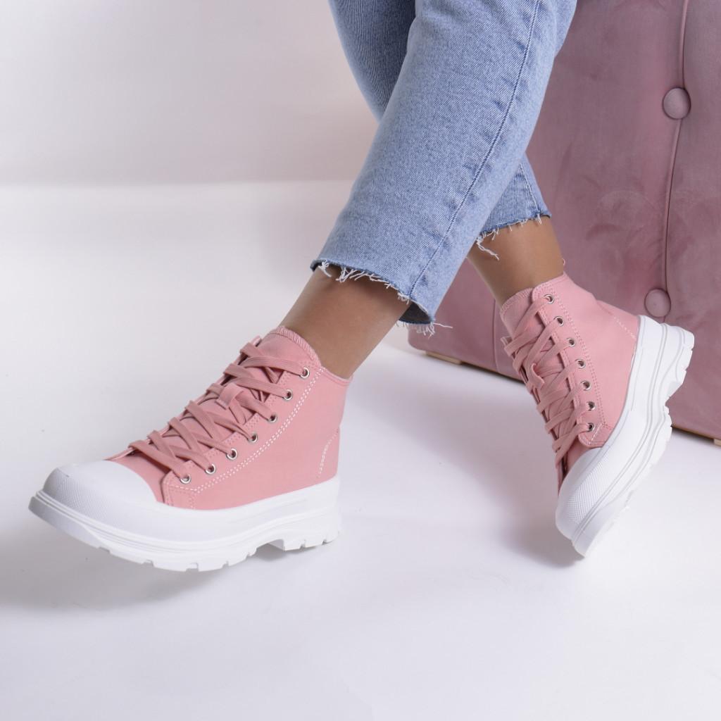 Adidasi roz material textil Simbi