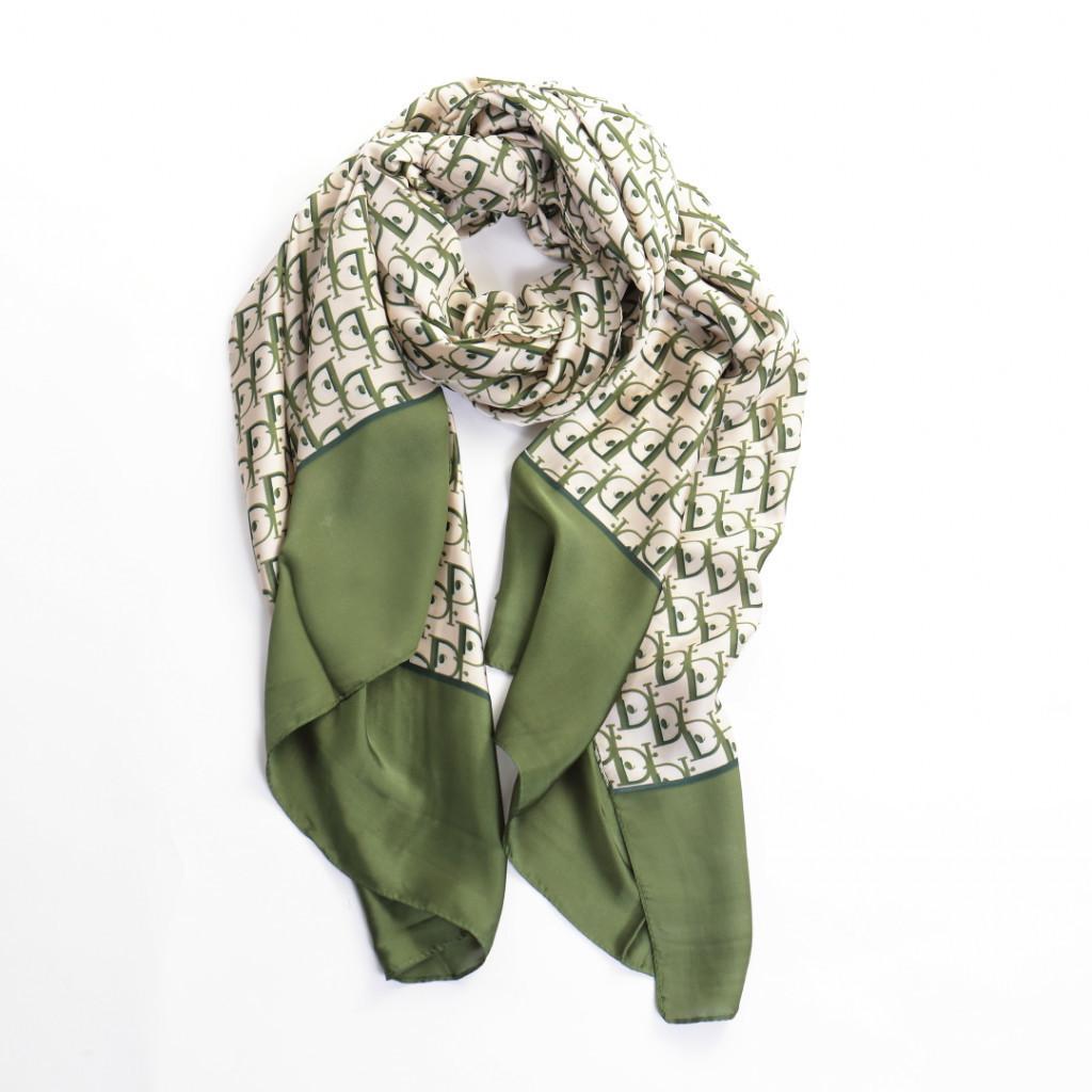 Esarfa verde cu eleganta Sabi