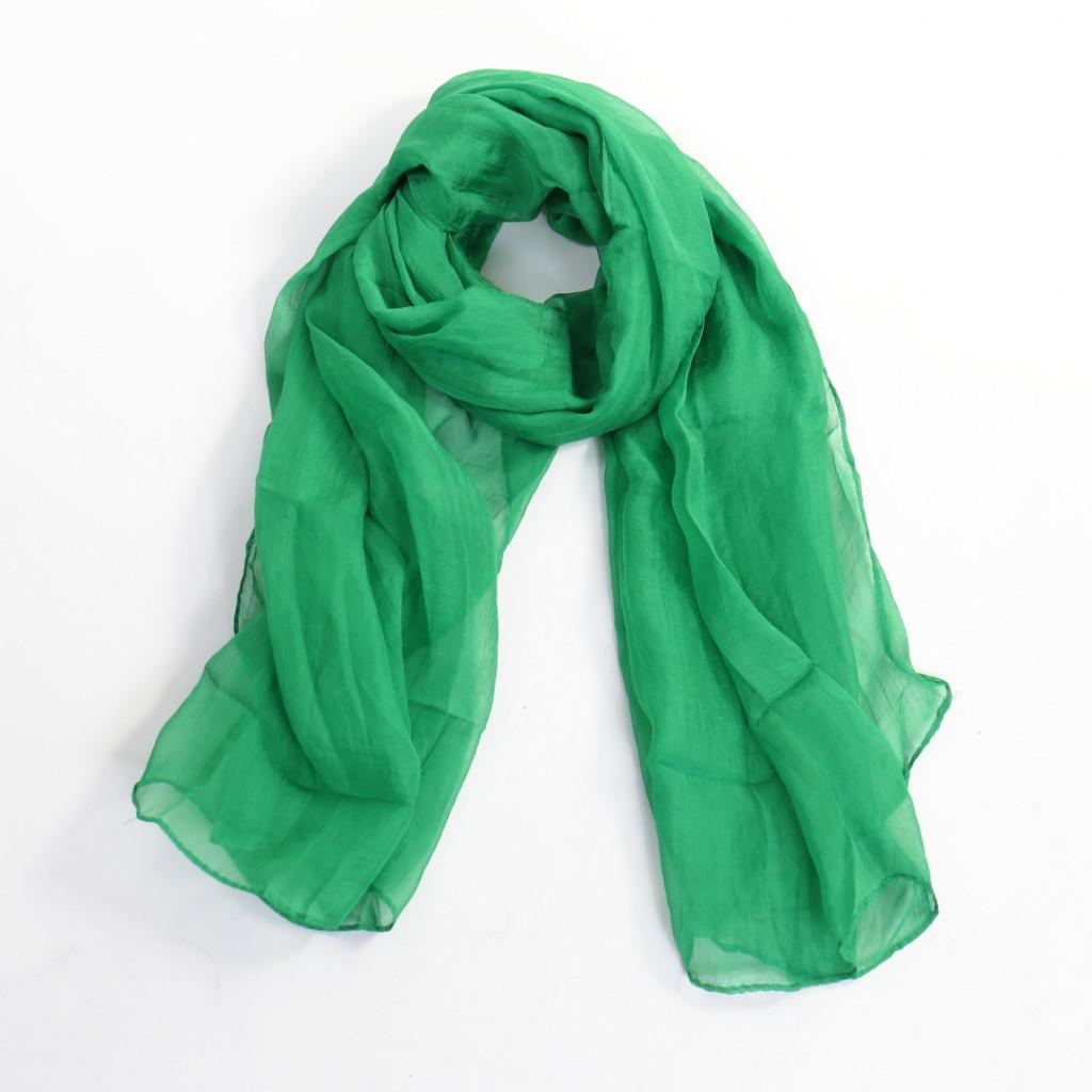 Esarfa verde simpla Amini