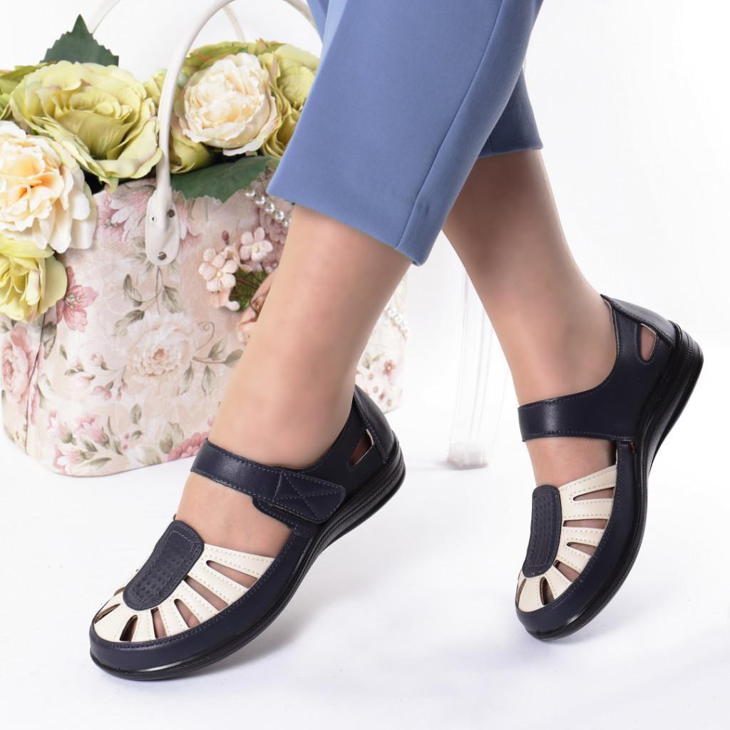 Pantofi bleumarin piele ecologica Nutica