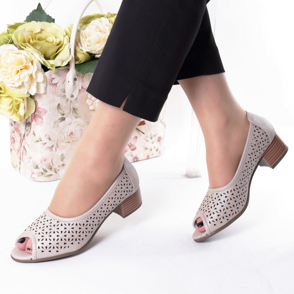 Pantofi crem piele ecologica Hermana