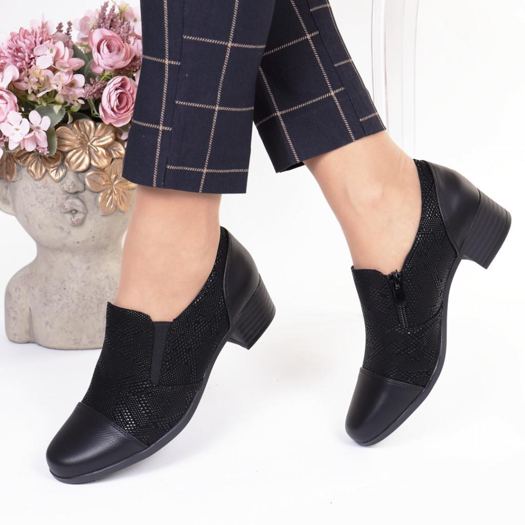 Pantofi negri piele ecologica Yanela