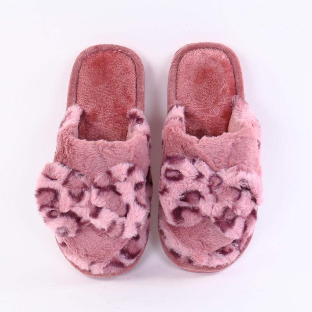 Papuci cu funda roz inchis Leona