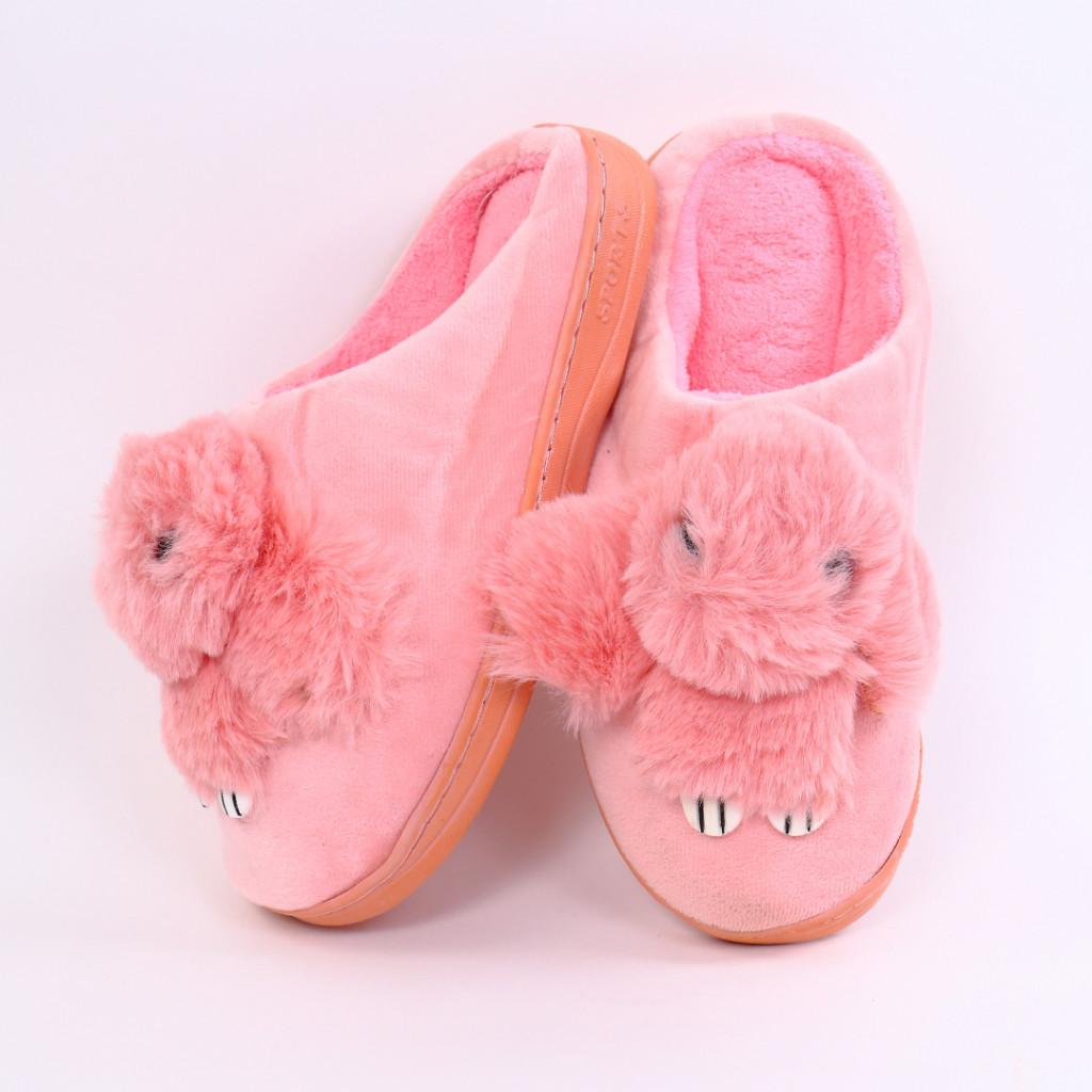 Papuci cu iepuras roz Iupia