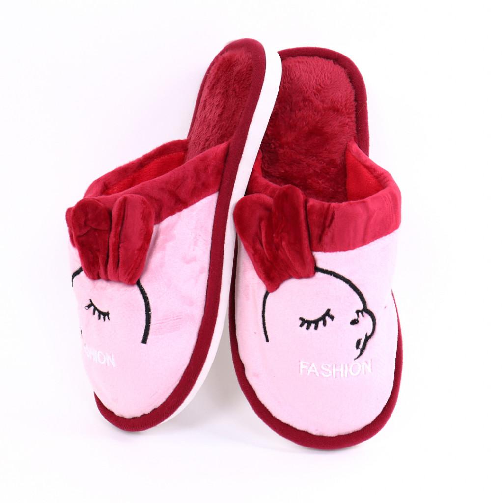 Papuci cu model bordo Slena