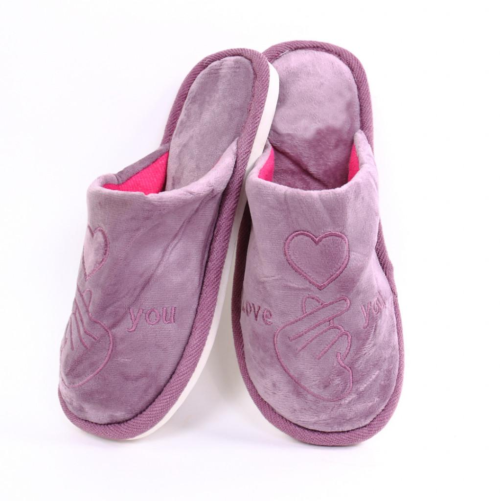 Papuci cu model lila Damiz