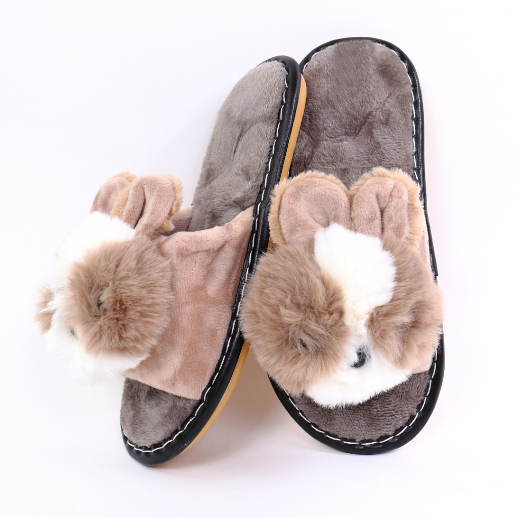 Papuci cu ursulet maro Rimia