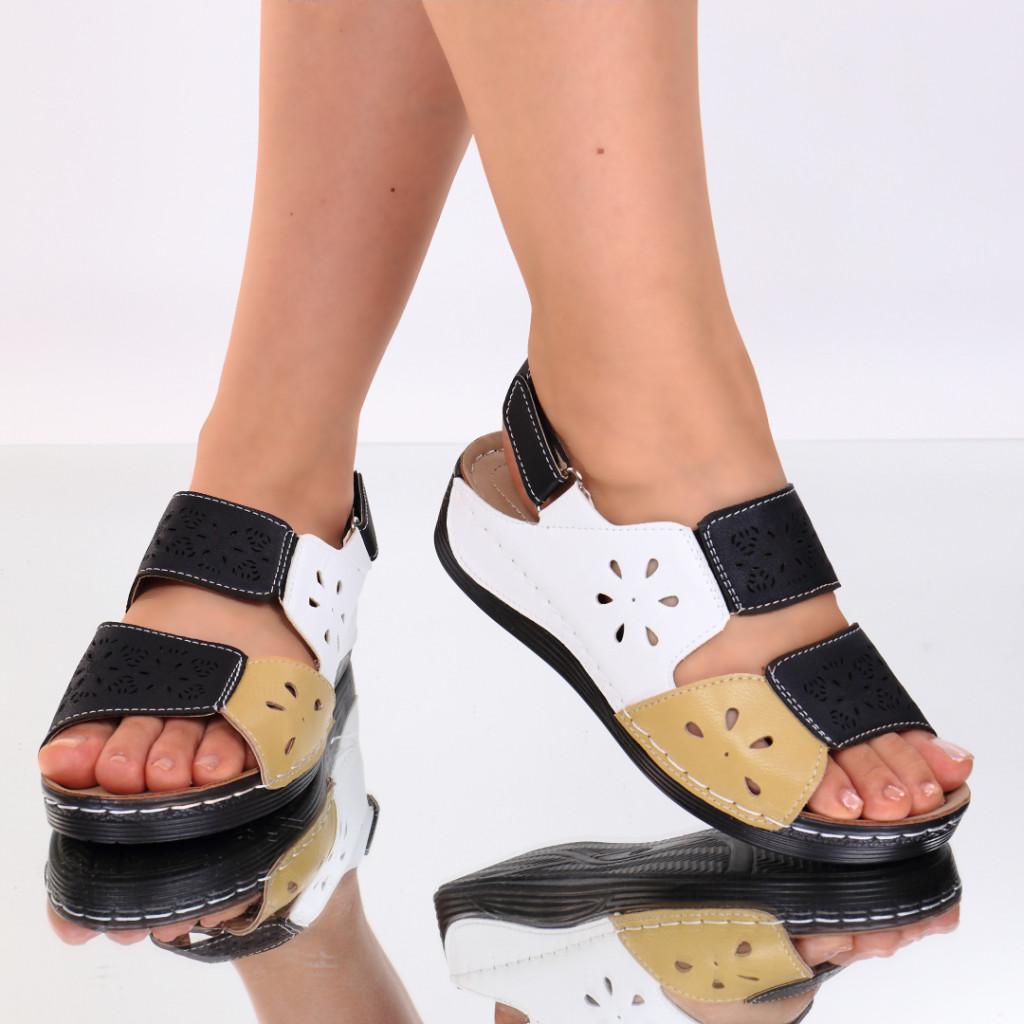 Sandale negre piele ecologica Ilana