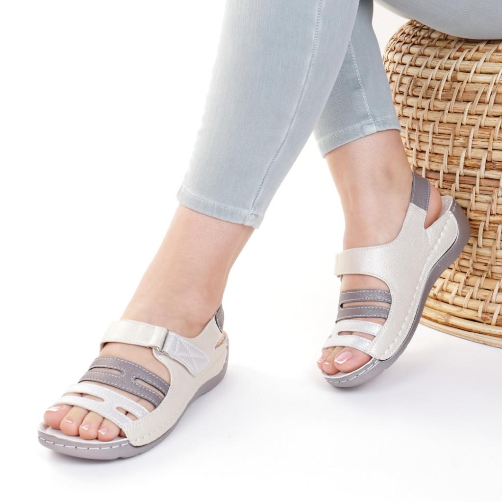Sandale piele ecologica aurii Helga