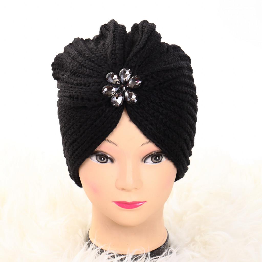 Turban cu model negru Lien