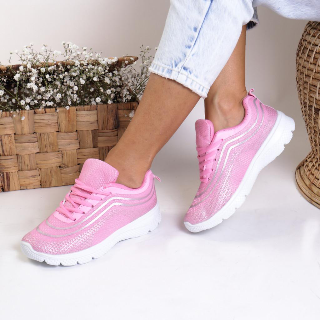 Adidasi material textil roz Calida