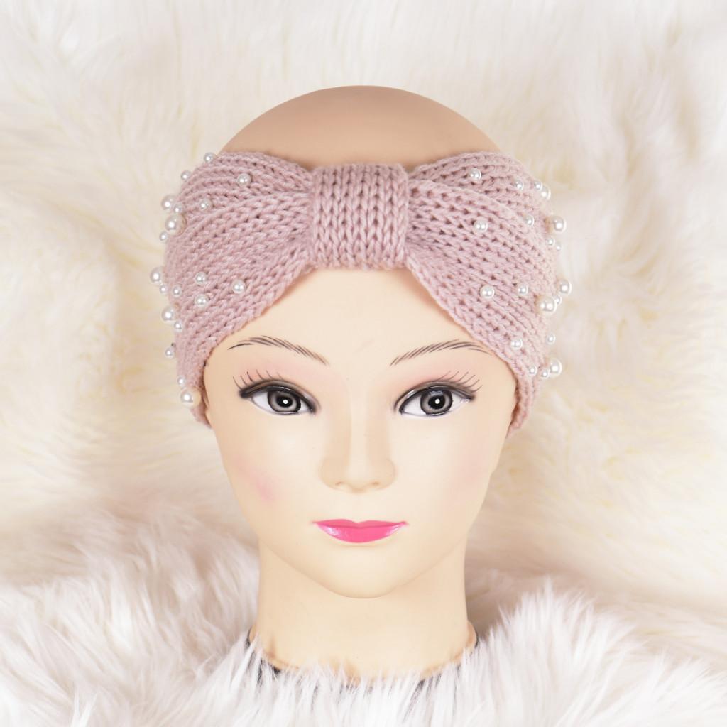 Bentita roz cu perle Azeria