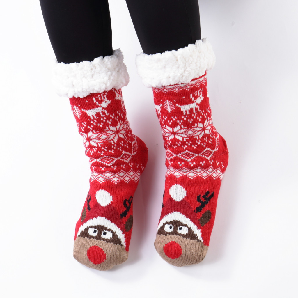 Ciorapi imblaniti si caldurosi cu ren Goreli