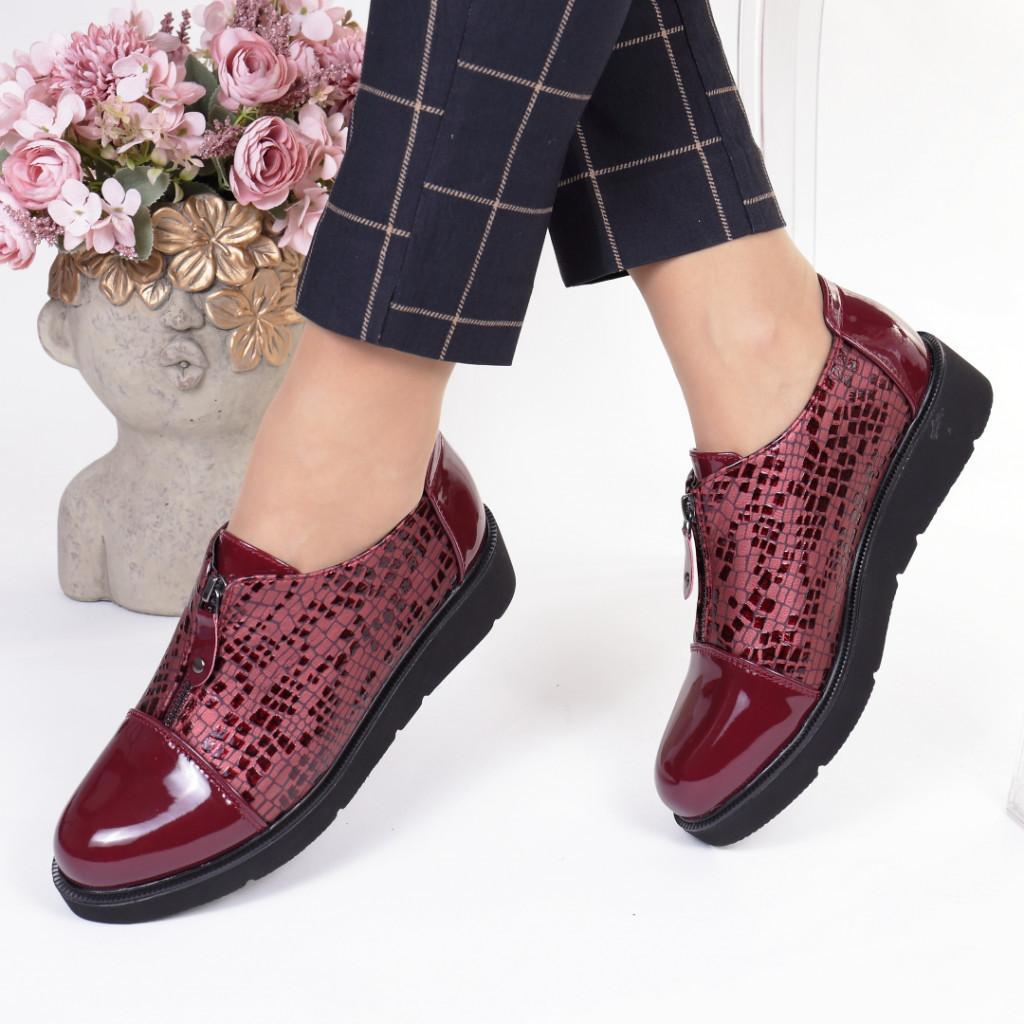 Pantofi bordo piele ecologica Teresita