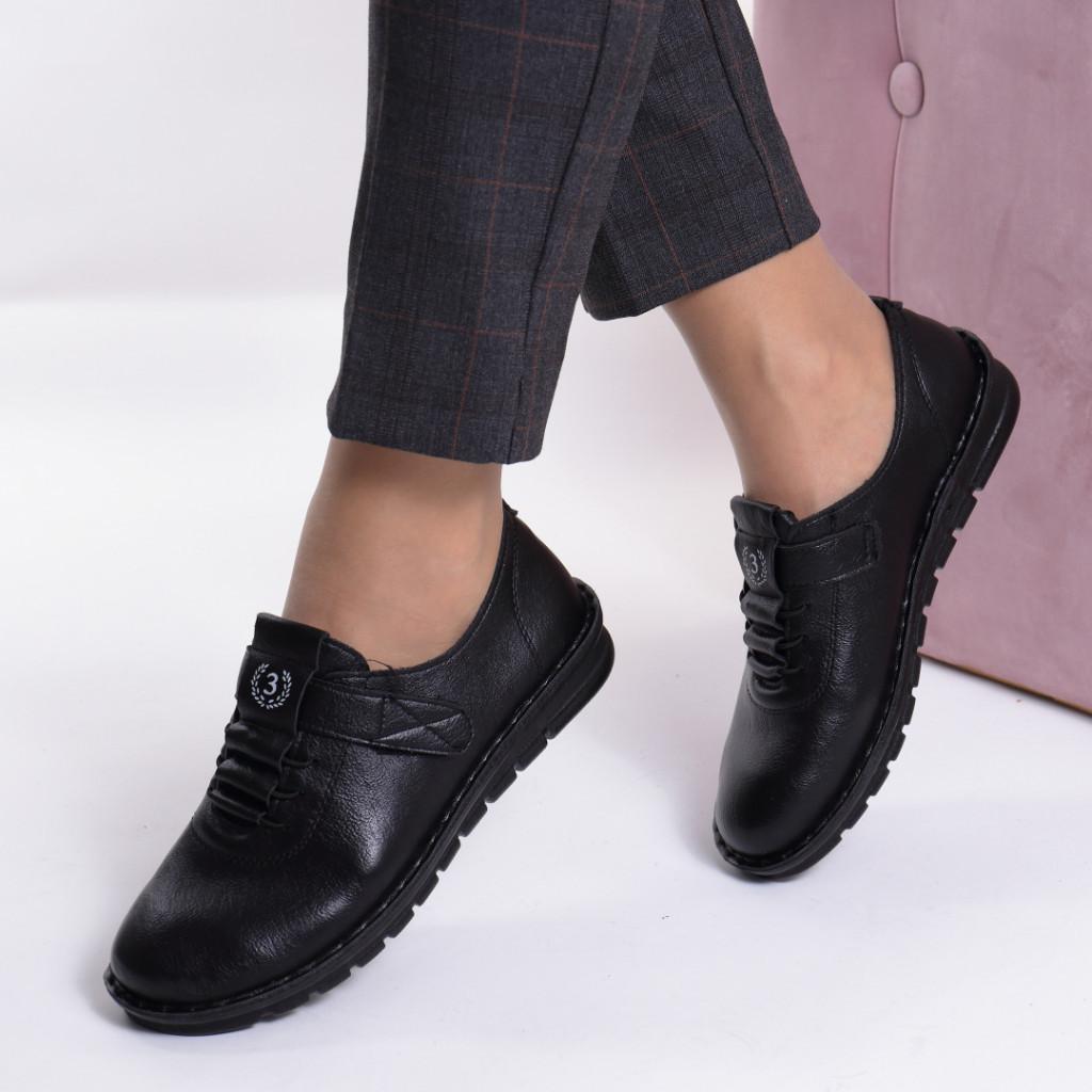 Pantofi negru piele ecologica Diomia