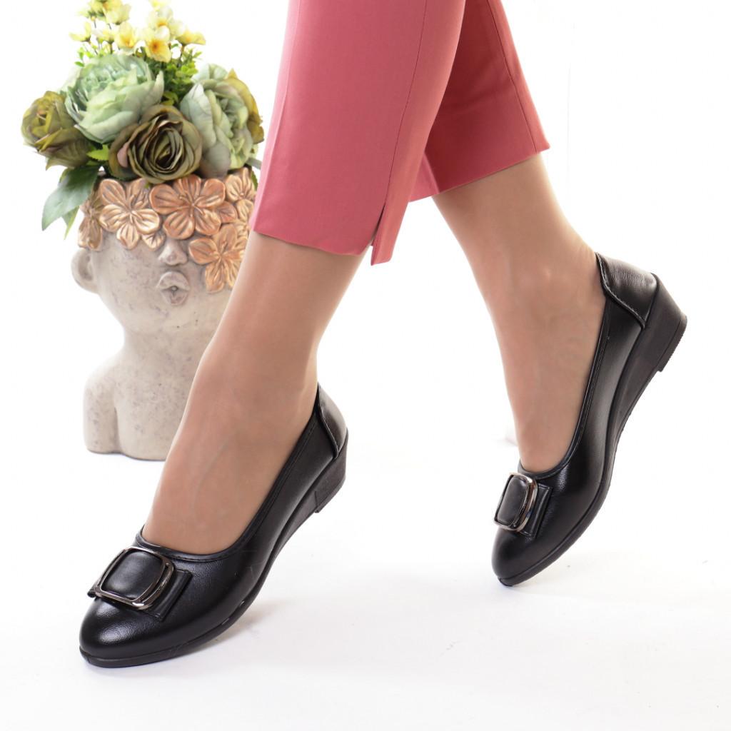 Pantofi piele ecologica Alendera