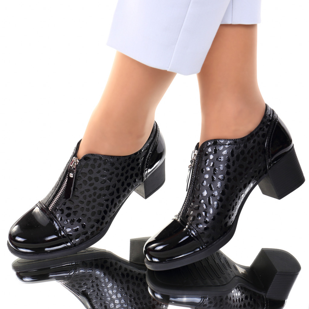 Pantofi piele ecologica negri Mistia