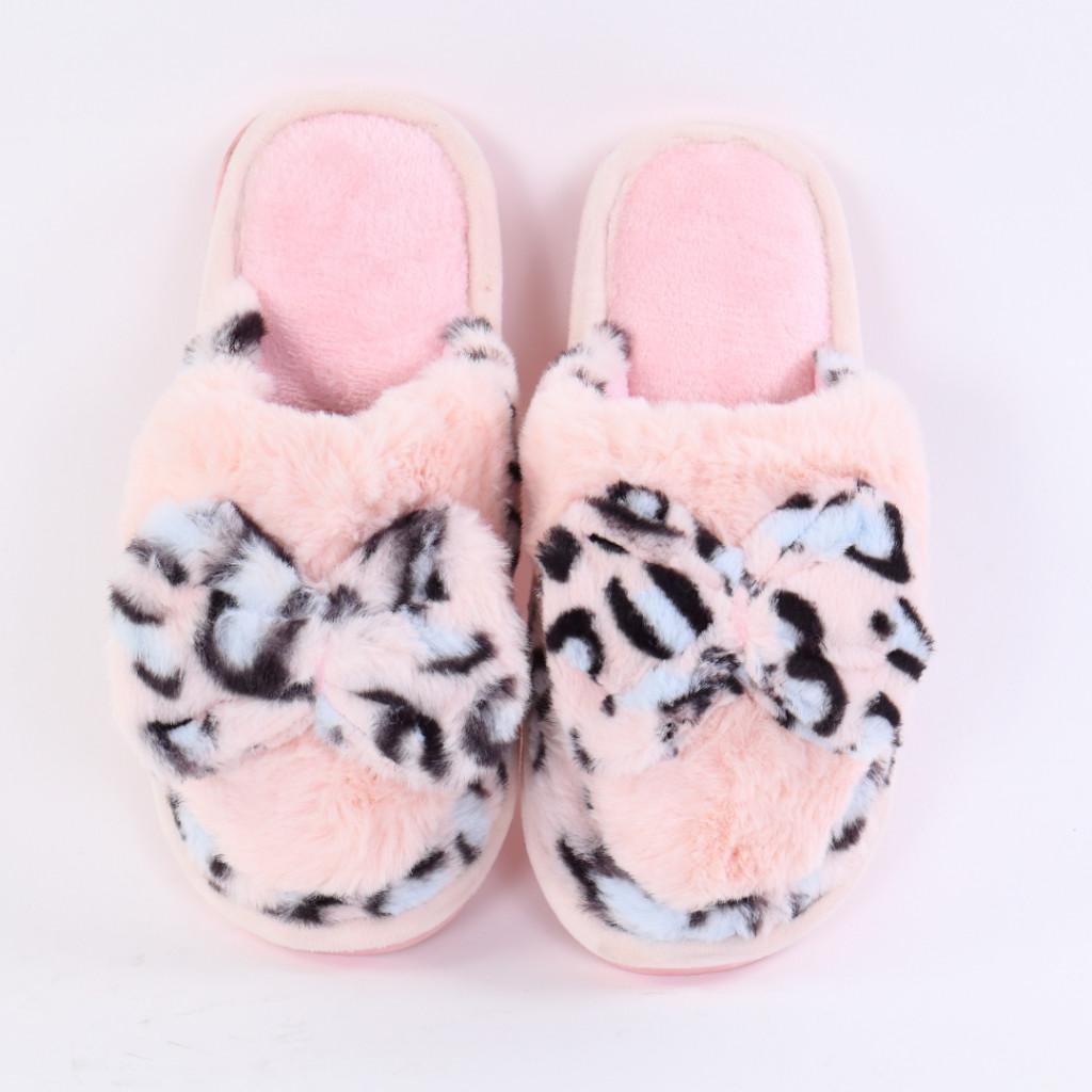 Papuci cu funda roz deschis Leona