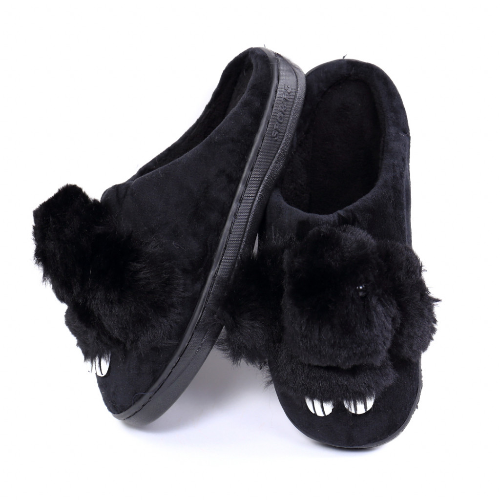 Papuci cu iepuras negri Iupia