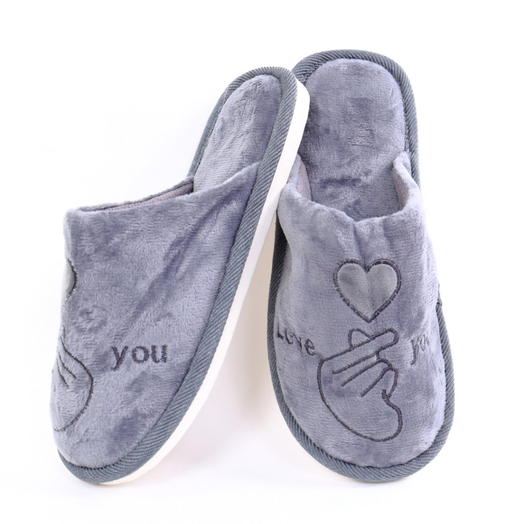 Papuci cu model gri Damiz