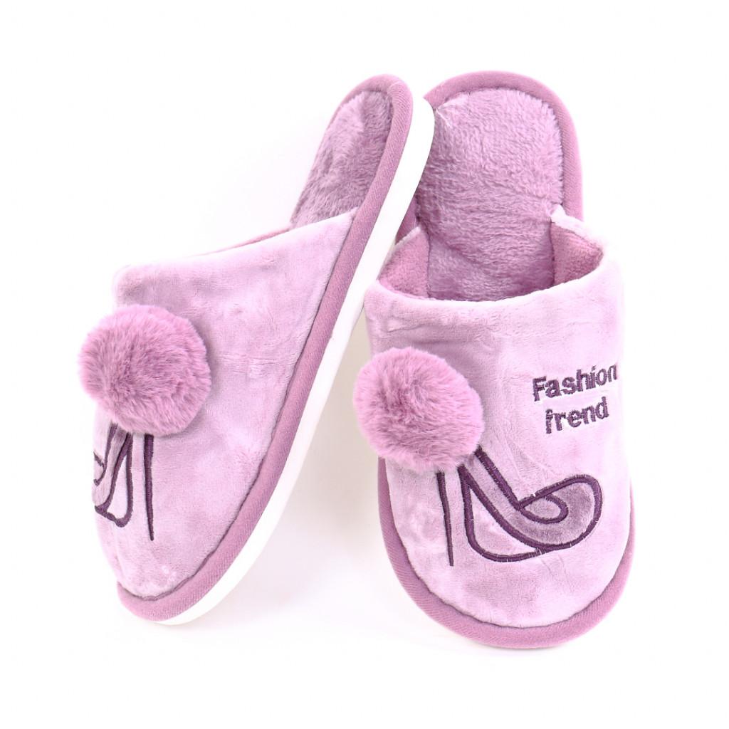 Papuci cu model mov Ari