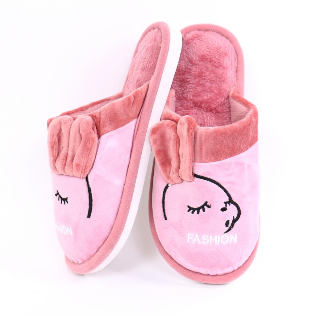 Papuci cu model roz Slena