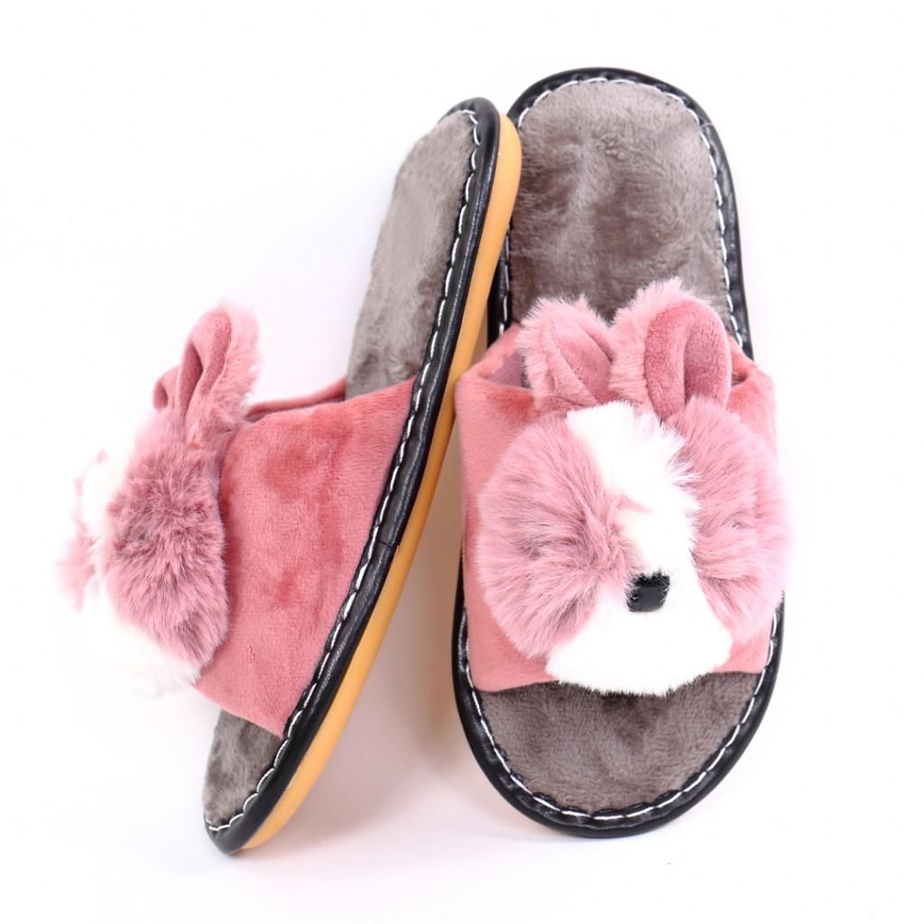 Papuci cu ursulet roz Rimia