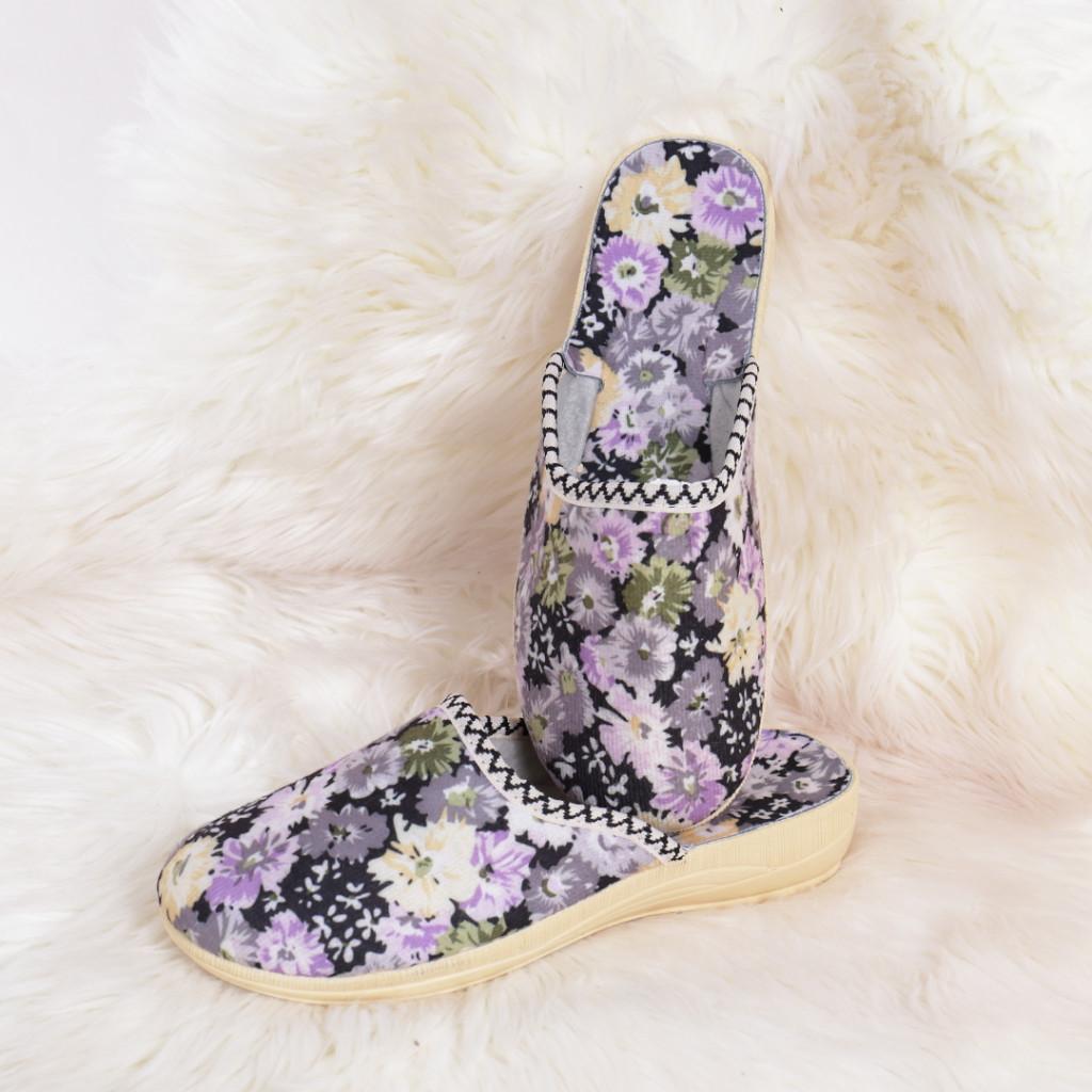 Papuci de casa cu flori Nova