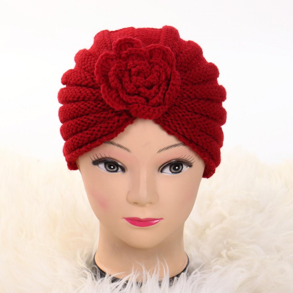 Turban cu floare rosu Ursa