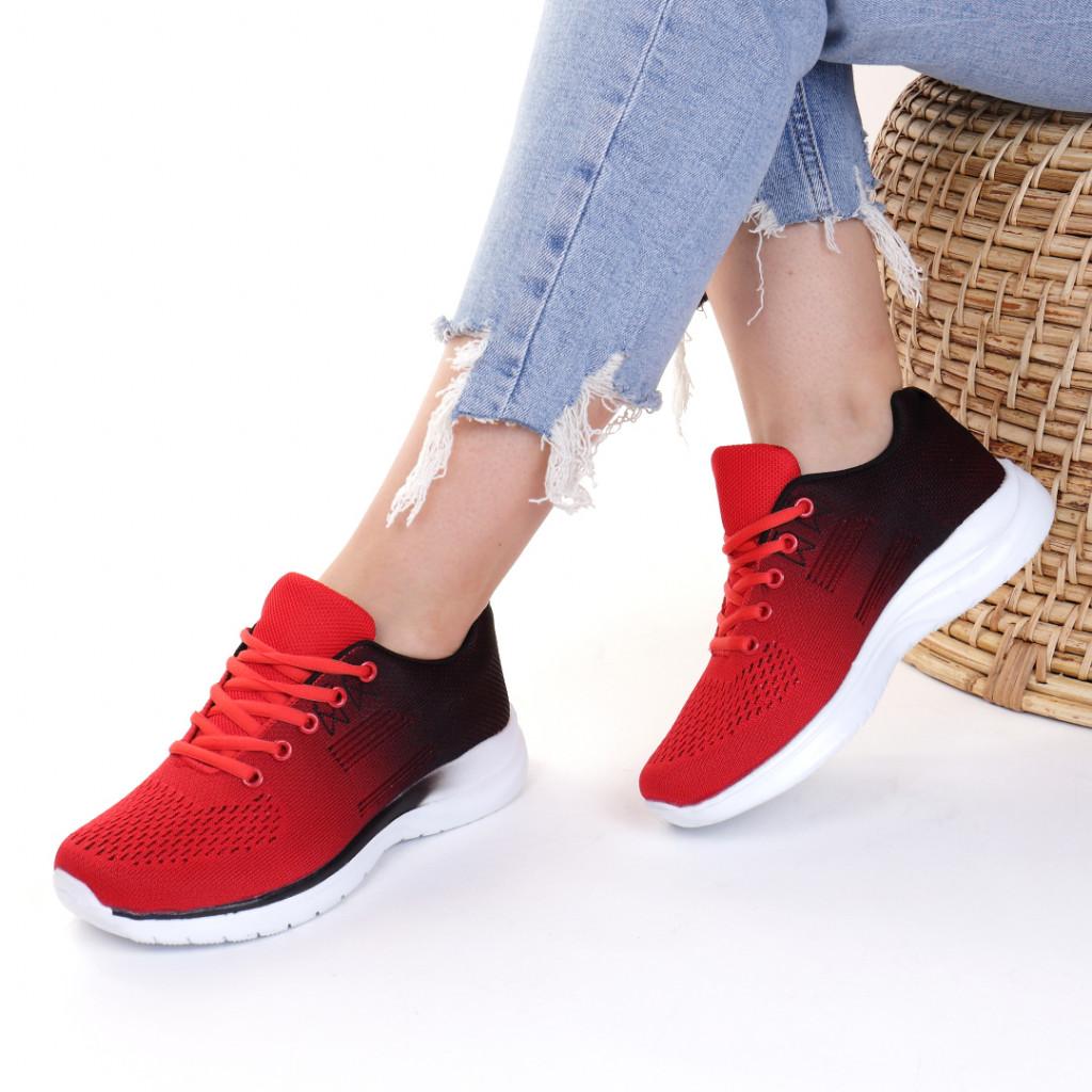 Adidasi material textil rosii Natalie