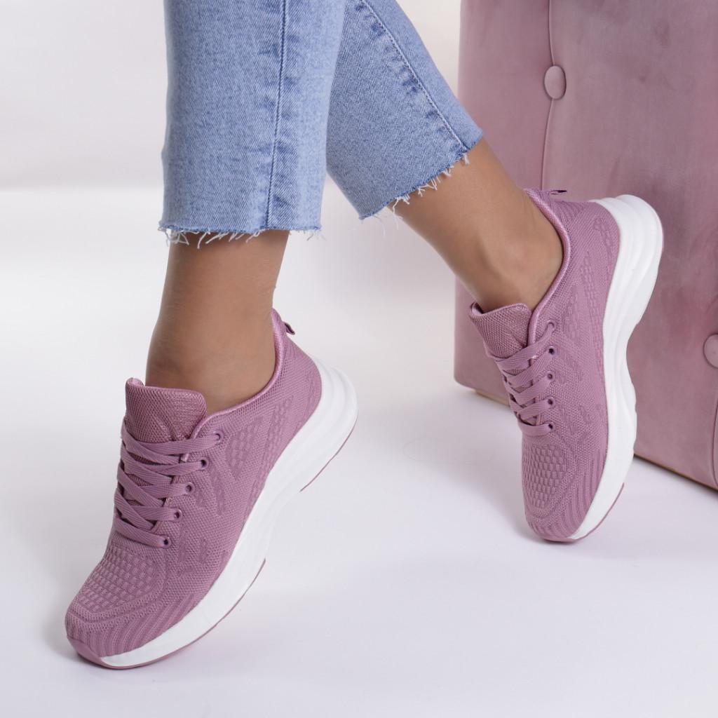 Adidasi roz material textil Avni