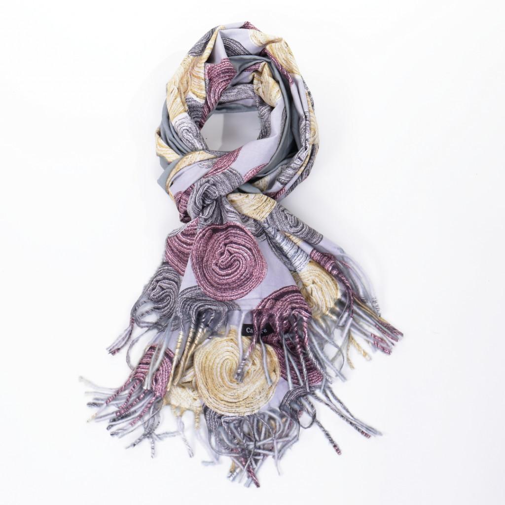 Esarfa gri colorata Ronita