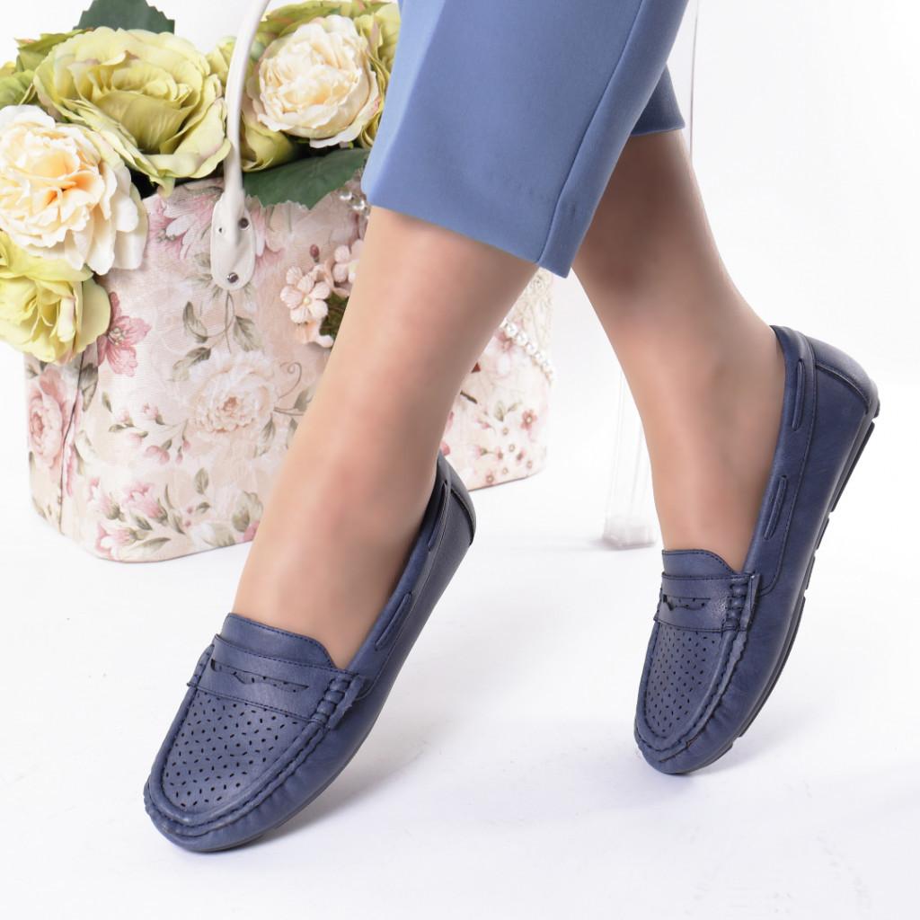 Pantofi bleumarin piele ecologica Aliona