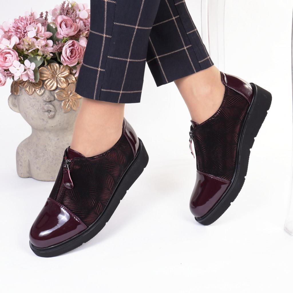 Pantofi bordo piele ecologica Rosita