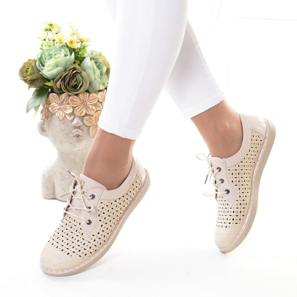 Pantofi crem piele ecologica Bodia