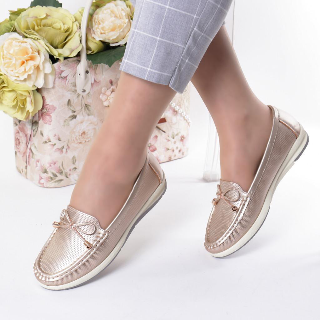 Pantofi gold piele ecologica Azra