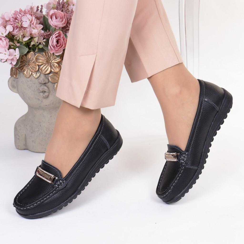 Pantofi negri piele naturala Edana