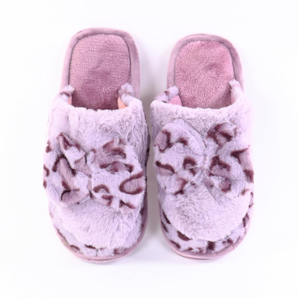 Papuci cu funda mov Leona