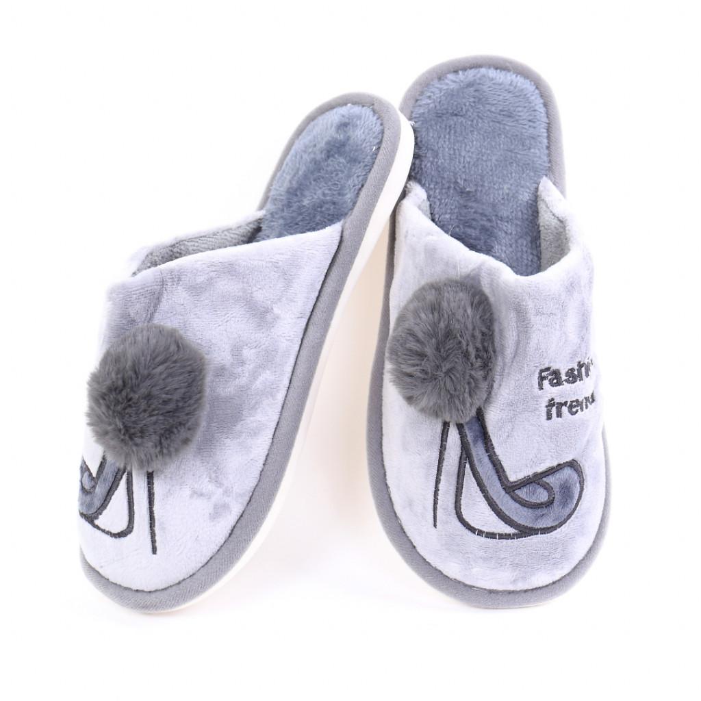 Papuci cu model gri Ari