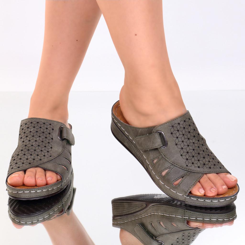 Papuci kaki piele ecologica Giovana
