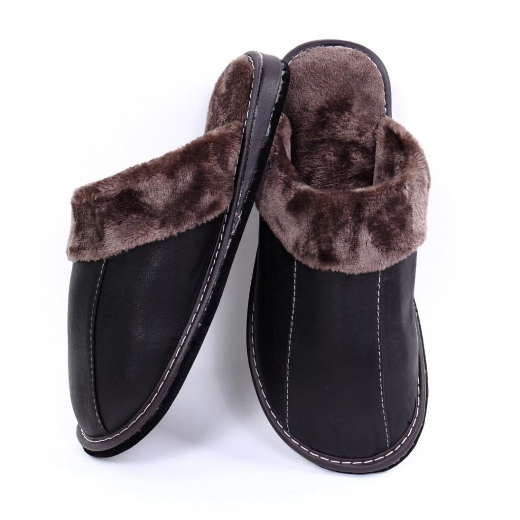 Papuci simpli negri Alex