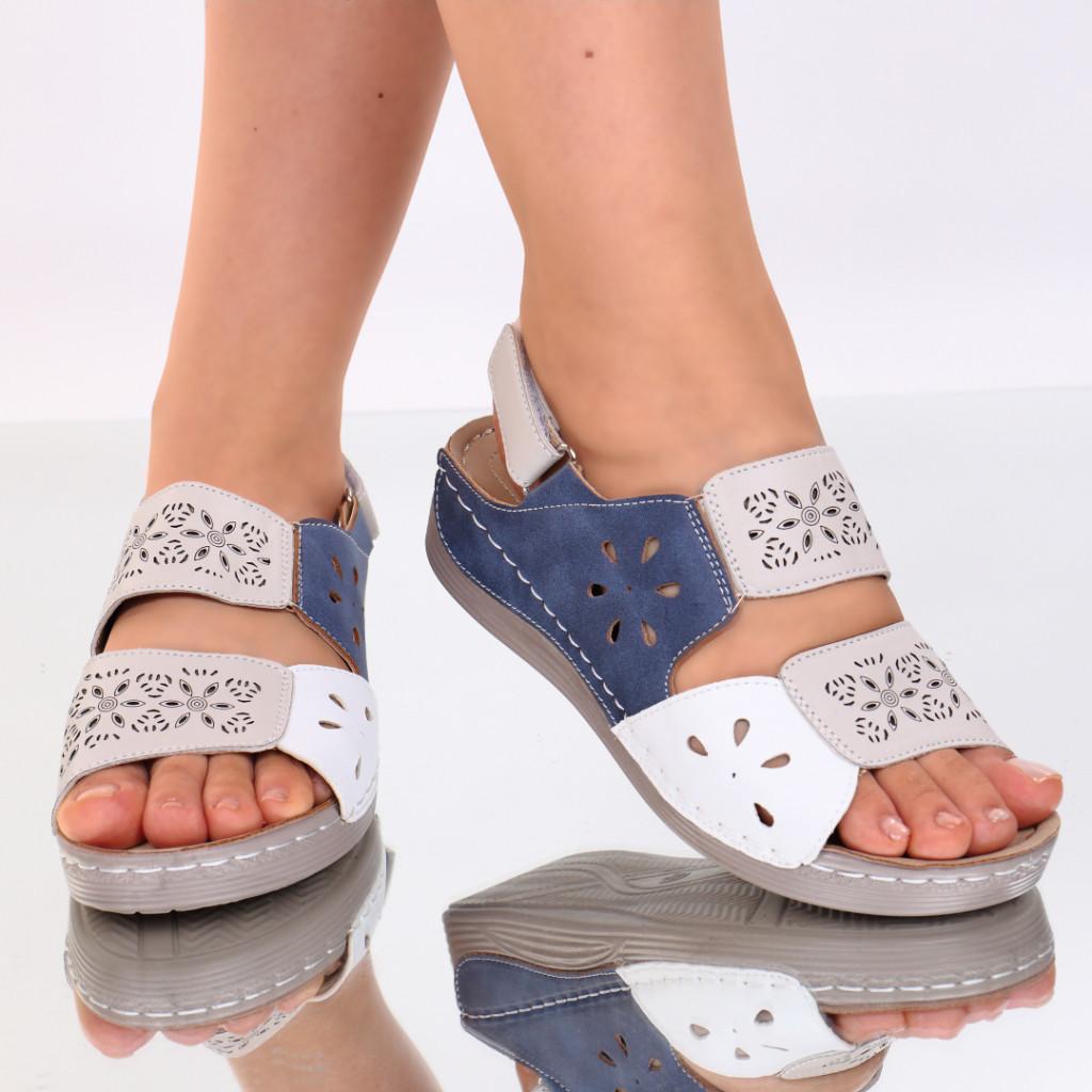Sandale bej piele ecologica Ilana