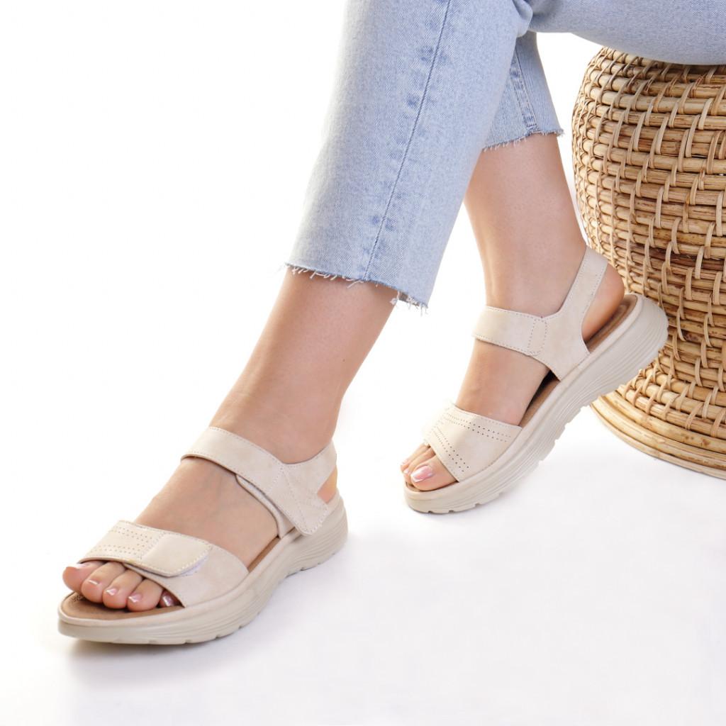 Sandale piele ecologica bej Aksinya