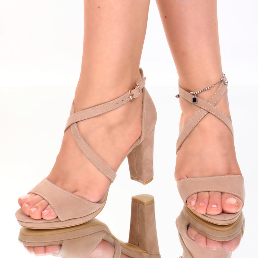 Sandale piele ecologica intoarsa nude Inera