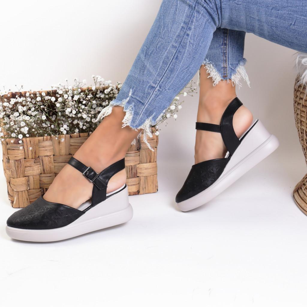 Sandale piele ecologica negre Aylin