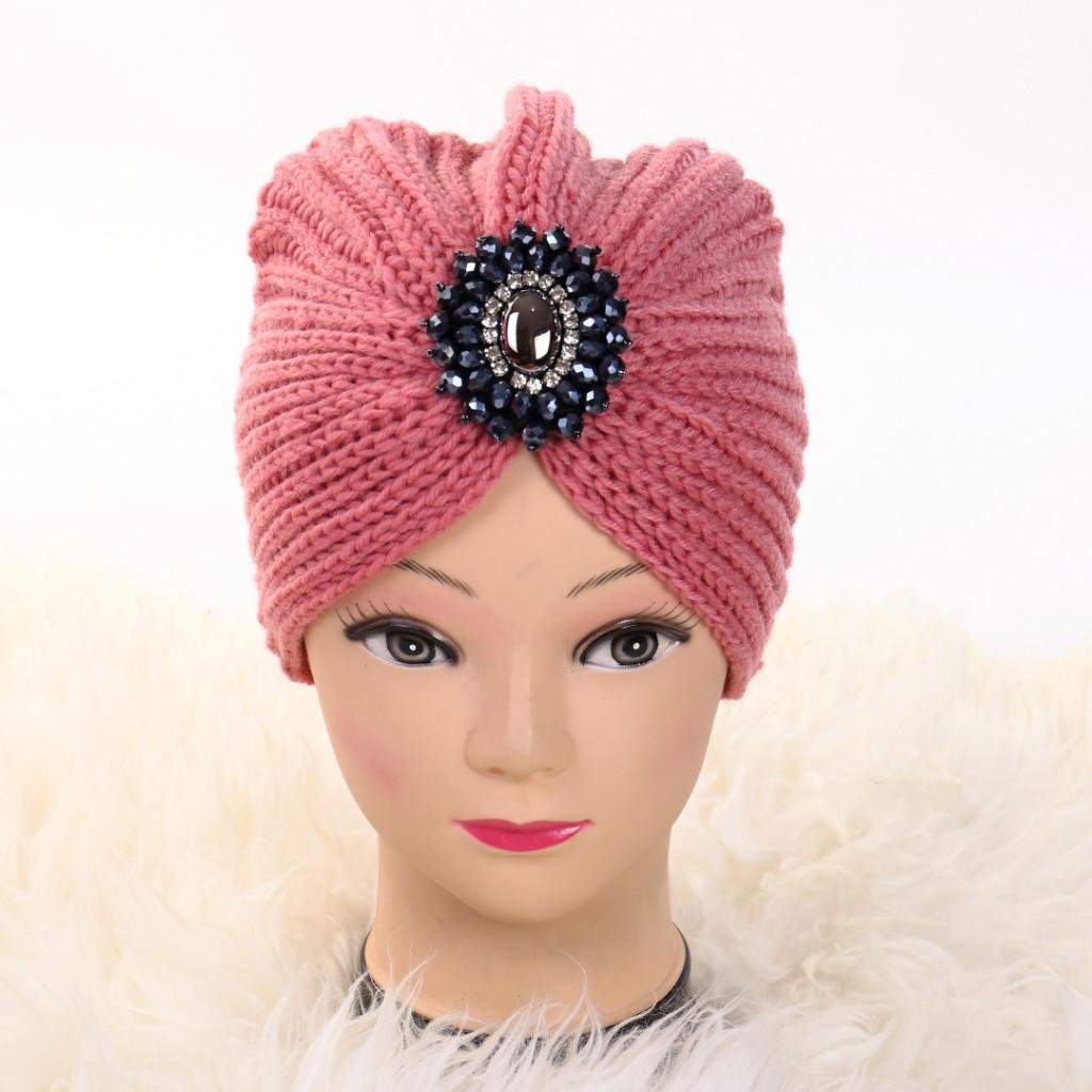 Turban cu model roz Ovo