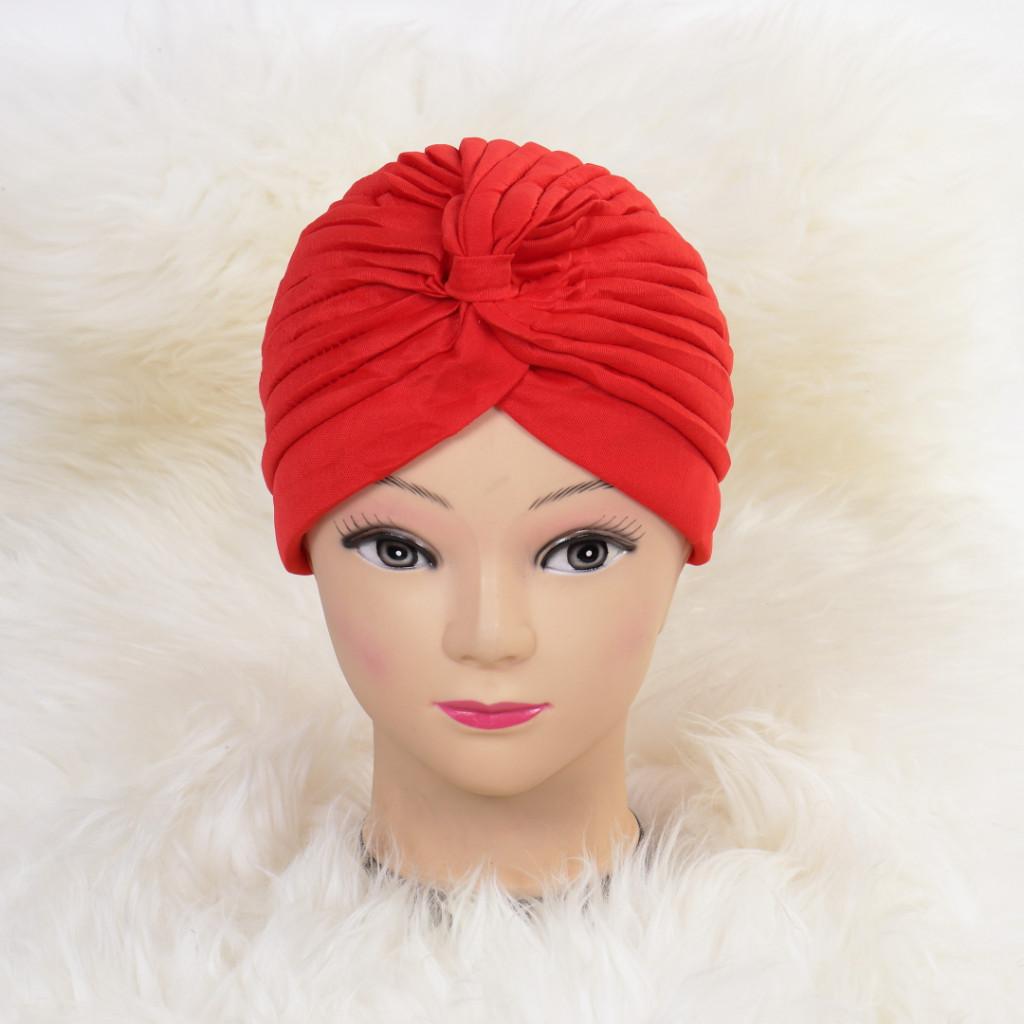 Turban simplu rosu Zizi