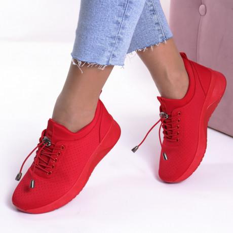 Adidasi rosii material textil Tori